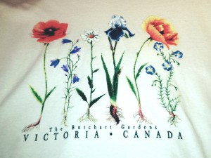 Teeshirt for Butchart Gardens, printed by HNG Promo